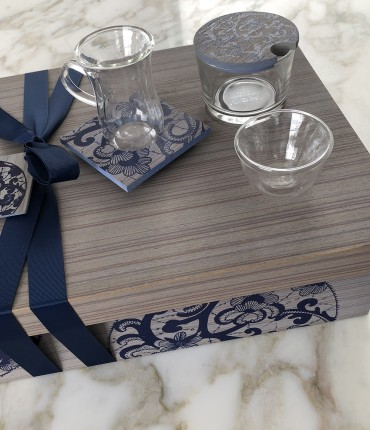 TEA & COFFEE SET NAVY