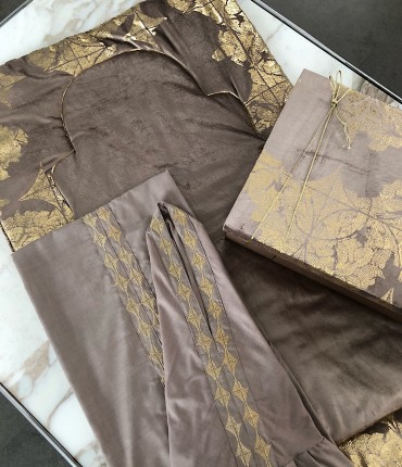 VELVET PRAYER SET - BROWN
