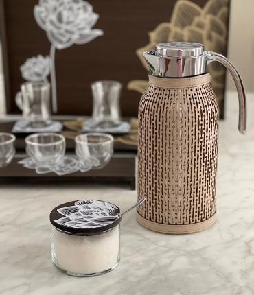 LARGE THERMOS - BEIGE