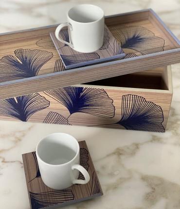 TURKISH COFFEE SET OF 2 - NAVY