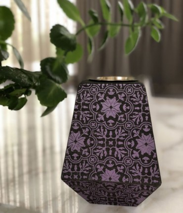 WOODEN MUBKHAR - PURPLE/ A