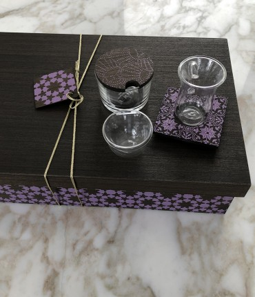 TEA & COFFEE SET PURPEL