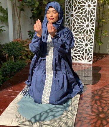 SCARF PRAYER SET - PALM - BLUE