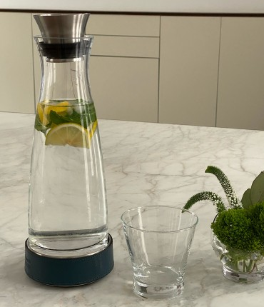 CARAFE WITH THERMAL BASE - BLUE