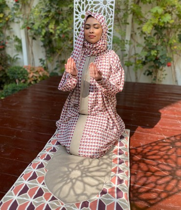 SCARF PRAYER SET - PINK