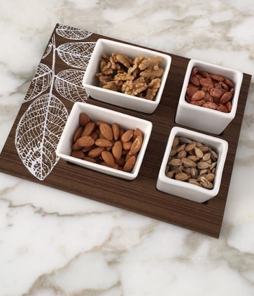 NUTS TRAY LEAF
