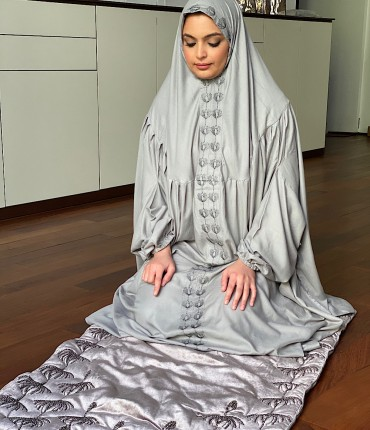 VELVET PRAYER SET - GRAY