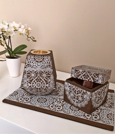 MUKHAR SET - WHITE
