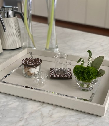 RECTANGULAR TRAY - WHITE