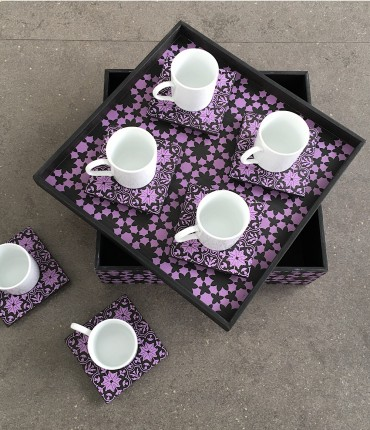 TURKISH COFFEE SET PURPLE