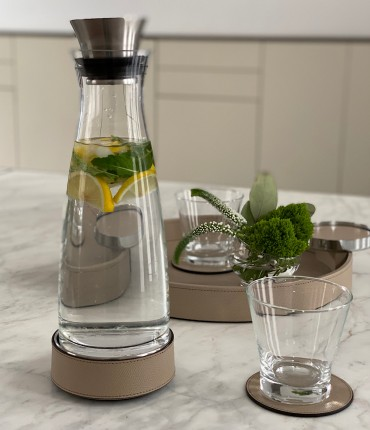 CARAFE WITH THERMAL BASE - BEIGE