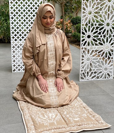 SCARF PRAYER SET - BEIGE