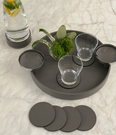 ROUND TRAY -DARK GRAY