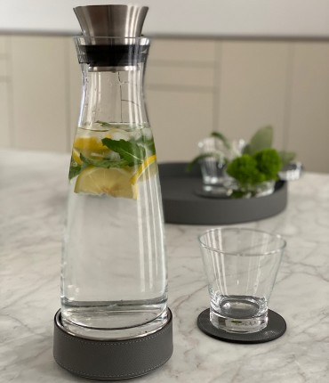 CARAFE WITH THERMAL BASE - DARK GRAY