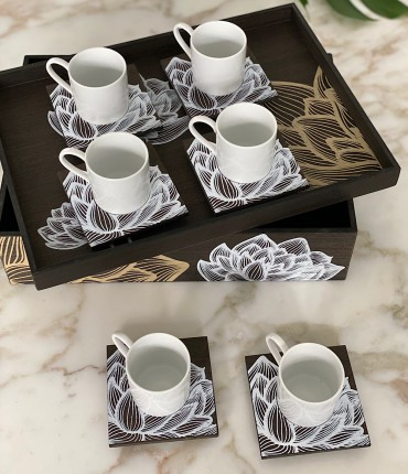 TURKISH COFFEE SET OF 6 - TULIP