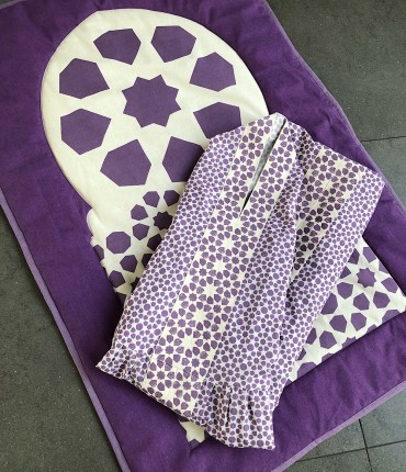 MOROCCAN PRAYER SET - PURPLE