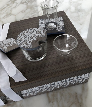 TEA & COFFEE SET GRAY