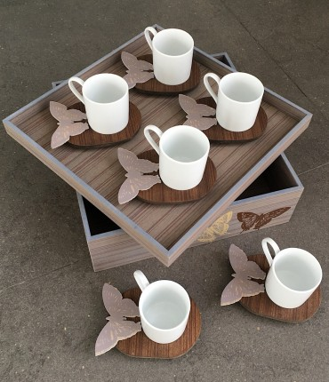 TURKISH COFFEE SET BUTTERFLY