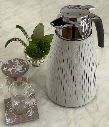1 LTR THERMOS - LIGHT GRAY