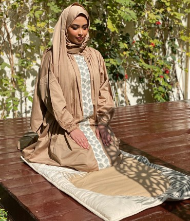 SCARF PRAYER SET - PALM - BEIGE