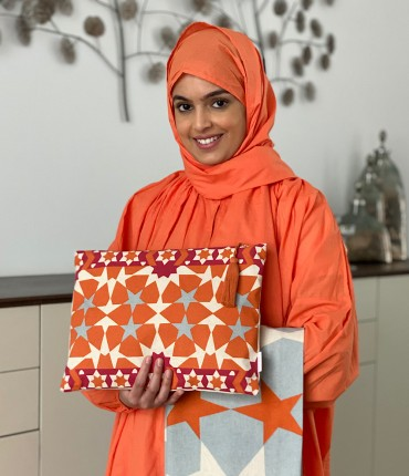 SCARFE TRAVEL PRAYER SET - ORANGE