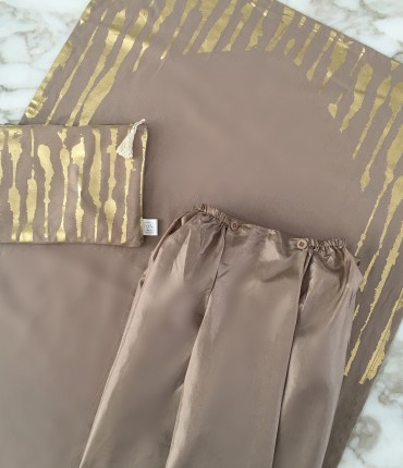 SKIRT TRAVEL SET - BEIGE