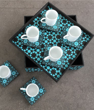 TURKISH COFFEE SET AQUA