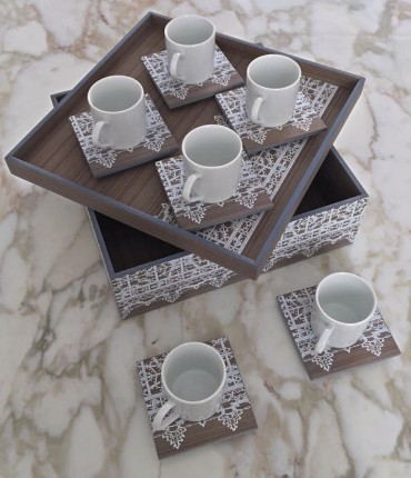 TURKISH COFFEE SET GRAY