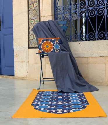 MOROCCAN PRAYER SET - NAVY